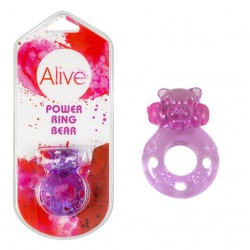ANILLA VIBRADORA POWER RING BEAR LILA 4.4CM AL30193